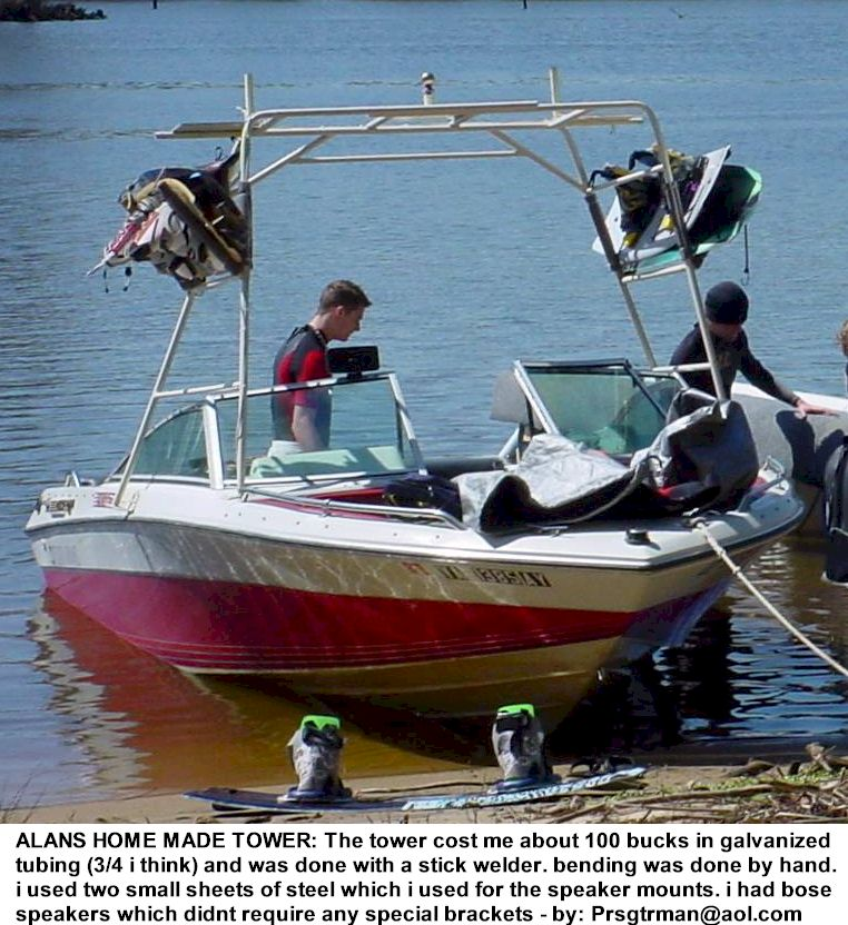 do it yourself wakeboard towers and accessories see alan s home built tower for 100